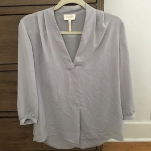Laundry by Shelli Segal Women's Gray Blouse Size S